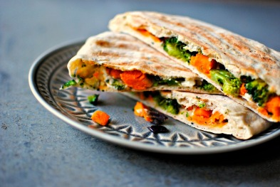 Spinach and vegetables Gözleme