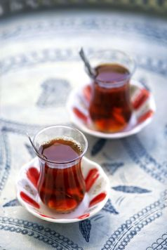 Turkish tea always part of the Turkish food